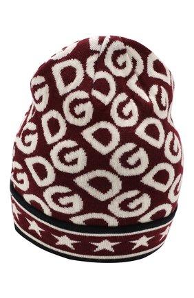 Детского шерстяная шапка DOLCE & GABBANA бордового цвета, арт. LBKH31/JAVSH | Фото 2