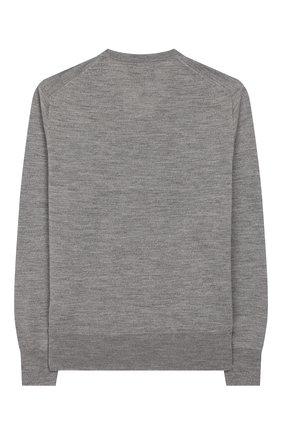 Детский шерстяной пуловер POLO RALPH LAUREN серого цвета, арт. 323749882 | Фото 2