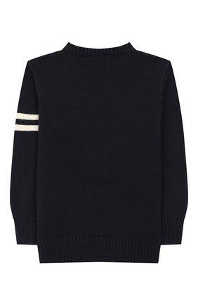 Детский пуловер из хлопка и шерсти POLO RALPH LAUREN темно-синего цвета, арт. 322749893 | Фото 2