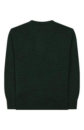 Детский шерстяной пуловер POLO RALPH LAUREN темно-зеленого цвета, арт. 322749887 | Фото 2