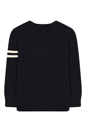 Детский пуловер из хлопка и шерсти POLO RALPH LAUREN темно-синего цвета, арт. 321749893 | Фото 2