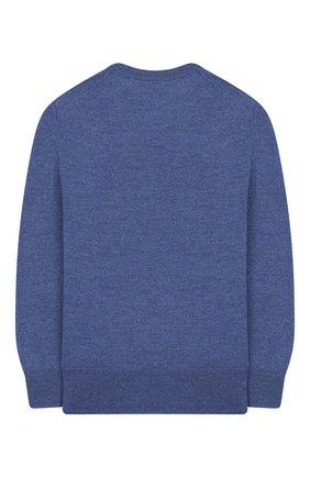 Детский шерстяной пуловер POLO RALPH LAUREN голубого цвета, арт. 321749887 | Фото 2