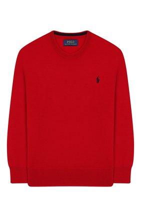 Детский шерстяной пуловер POLO RALPH LAUREN красного цвета, арт. 321749887 | Фото 1