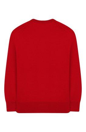 Детский шерстяной пуловер POLO RALPH LAUREN красного цвета, арт. 321749887 | Фото 2