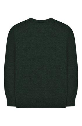Детский шерстяной пуловер POLO RALPH LAUREN темно-зеленого цвета, арт. 321749887 | Фото 2