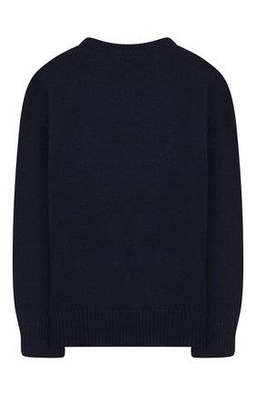 Детский пуловер из шерсти и хлопка POLO RALPH LAUREN темно-синего цвета, арт. 313754993 | Фото 2