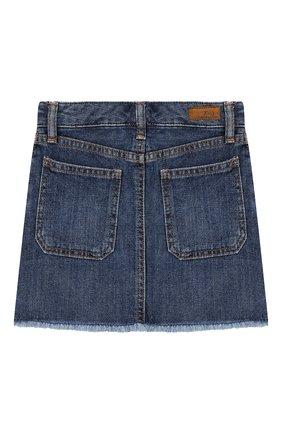 Детская джинсовая юбка POLO RALPH LAUREN синего цвета, арт. 313749603   Фото 2