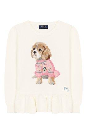 Пуловер из хлопка и шерсти   Фото №1