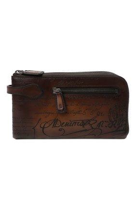 Мужская кожаный футляр для документов BERLUTI светло-коричневого цвета, арт. N135270 | Фото 1