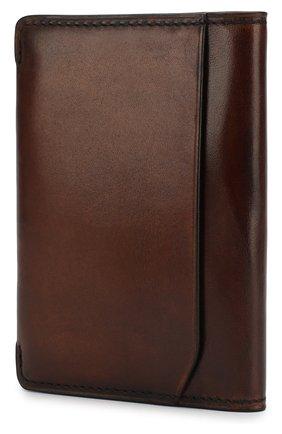 Мужской кожаный футляр для кредитных карт BERLUTI коричневого цвета, арт. N152795 | Фото 2