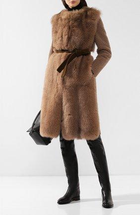 Женские кожаные ботфорты SANTONI черного цвета, арт. WSEH57519BJ2CWCLN01 | Фото 2