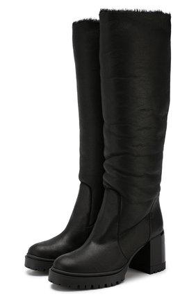 Женские кожаные сапоги CASADEI черного цвета, арт. 1S026N0711CALGA9000 | Фото 1