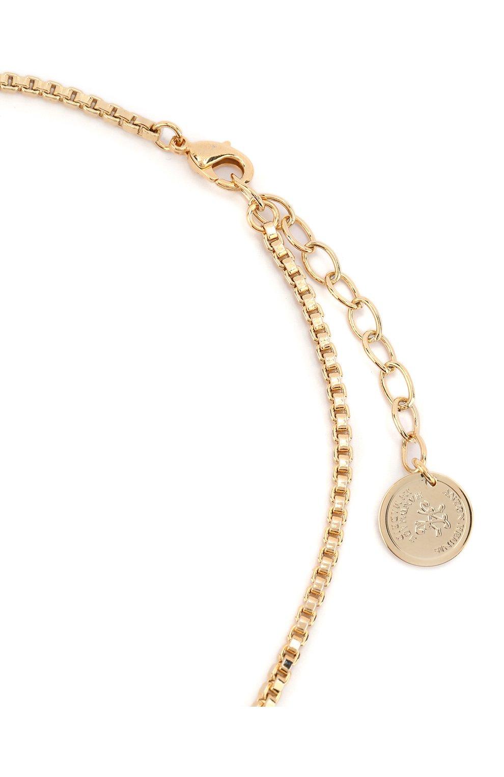 Женское колье ANTON HEUNIS золотого цвета, арт. FLT1.11 | Фото 3