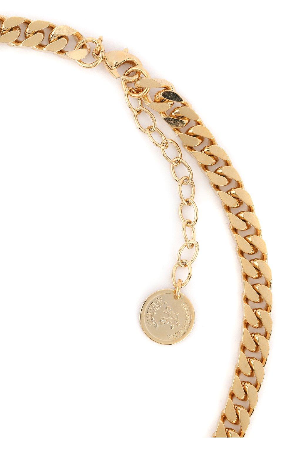 Женское колье ANTON HEUNIS золотого цвета, арт. PHT1.13 | Фото 3