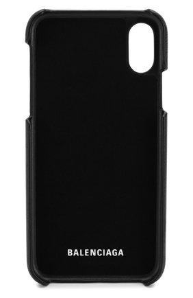 Мужской кожаный чехол для iphone x/xs BALENCIAGA черного цвета, арт. 585828/0K1X0 | Фото 2