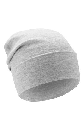Женская шапка из смеси кашемира и вискозы BRUNELLO CUCINELLI светло-серого цвета, арт. M9A850199   Фото 1
