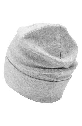 Женская шапка из смеси кашемира и вискозы BRUNELLO CUCINELLI светло-серого цвета, арт. M9A850199   Фото 2