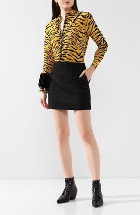 Женские кожаные ботинки andy SAINT LAURENT черного цвета, арт. 582071/1FW10 | Фото 2