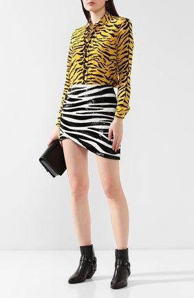 Женские кожаные ботинки west SAINT LAURENT черного цвета, арт. 563757/CY500 | Фото 2