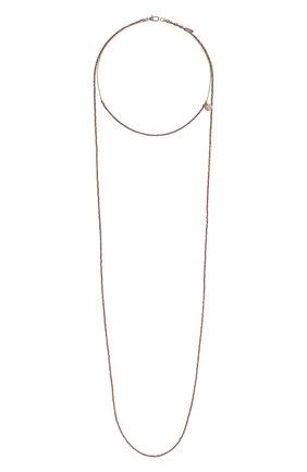 Женское колье BRUNELLO CUCINELLI коричневого цвета, арт. MC0W9LB50P/M | Фото 1