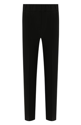 Женские шерстяные брюки BRUNELLO CUCINELLI черного цвета, арт. M0W07P6818   Фото 1 (Материал внешний: Шерсть; Женское Кросс-КТ: Брюки-одежда; Силуэт Ж (брюки и джинсы): Прямые; Стили: Кэжуэл; Длина (брюки, джинсы): Укороченные; Статус проверки: Проверена категория)