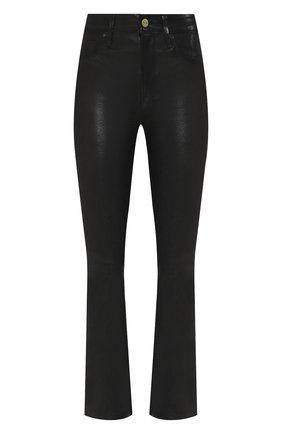 Женские кожаные брюки FRAME DENIM черного цвета, арт. LWLT0171 | Фото 1