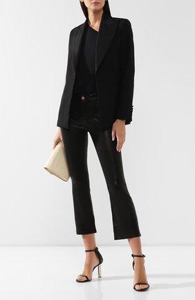 Женские кожаные брюки FRAME DENIM черного цвета, арт. LWLT0171 | Фото 2