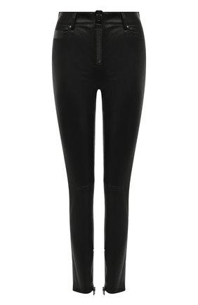 Женские кожаные брюки TOM FORD черного цвета, арт. PAL672-LEX224 | Фото 1 (Статус проверки: Проверено; Женское Кросс-КТ: Кожаные брюки, Брюки-одежда; Силуэт Ж (брюки и джинсы): Узкие; Длина (брюки, джинсы): Стандартные)
