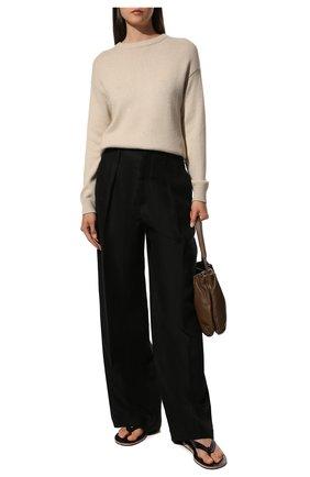 Женский пуловер из кашемира и шелка BRUNELLO CUCINELLI светло-бежевого цвета, арт. M73539900 | Фото 2