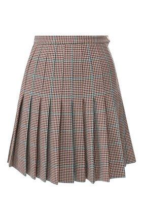 Женская шерстяная юбка OFF-WHITE бежевого цвета, арт. 0WCC080E19F270779900 | Фото 1