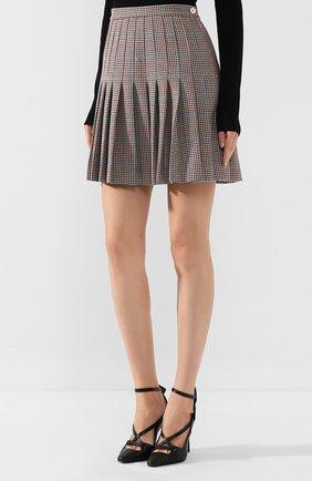 Женская шерстяная юбка OFF-WHITE бежевого цвета, арт. 0WCC080E19F270779900 | Фото 3