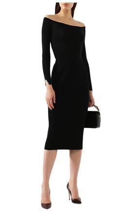 Женский шерстяной пуловер STELLA MCCARTNEY черного цвета, арт. 573721/S1735 | Фото 2