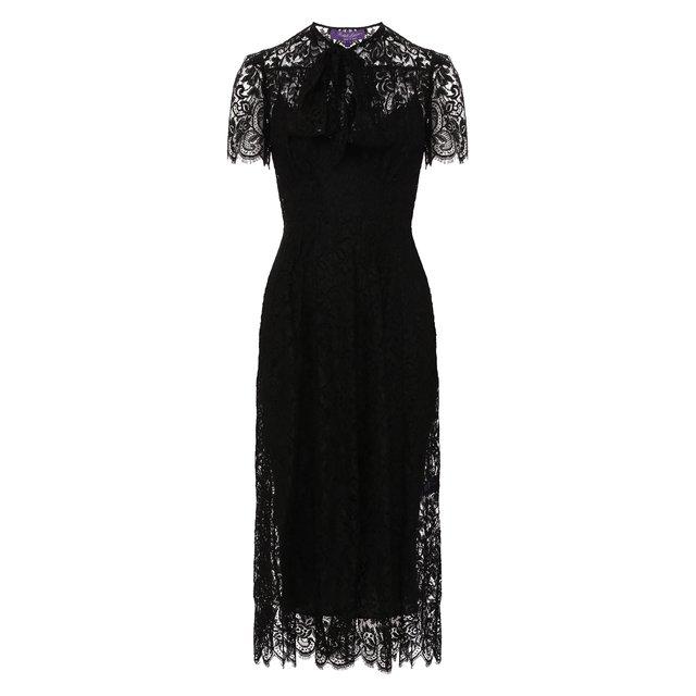 Платье из смеси вискозы и хлопка Ralph Lauren