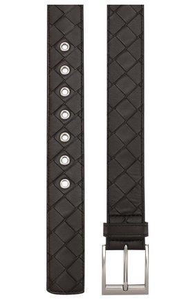 Мужской кожаный ремень BOTTEGA VENETA темно-коричневого цвета, арт. 580673/V00BG | Фото 2