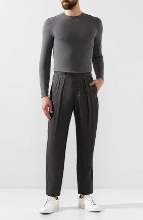 Мужская лонгслив из вискозы GIORGIO ARMANI серого цвета, арт. 3GST51/SJP4Z | Фото 2