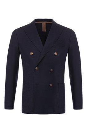 Мужской шерстяной пиджак ELEVENTY UOMO темно-синего цвета, арт. 979JA0002 JAC24018 | Фото 1