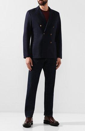 Мужской шерстяной пиджак ELEVENTY UOMO темно-синего цвета, арт. 979JA0002 JAC24018 | Фото 2