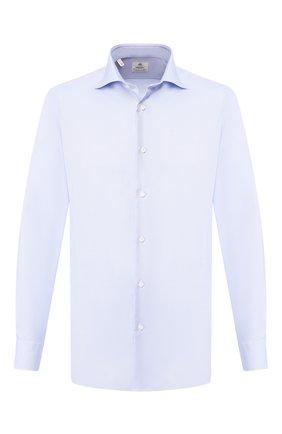 Мужская хлопковая сорочка LUIGI BORRELLI голубого цвета, арт. EV08/ARCHILLE/TS10420 | Фото 1