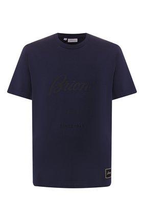 Мужская хлопковая футболка BRIONI темно-синего цвета, арт. UJCH0L/08628 | Фото 1
