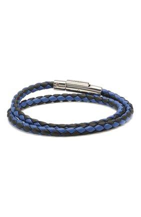 Мужской кожаный браслет TOD'S темно-синего цвета, арт. XEMB1900200JUS   Фото 1