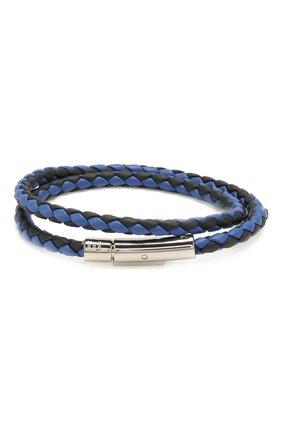 Мужской кожаный браслет TOD'S темно-синего цвета, арт. XEMB1900200JUS   Фото 2
