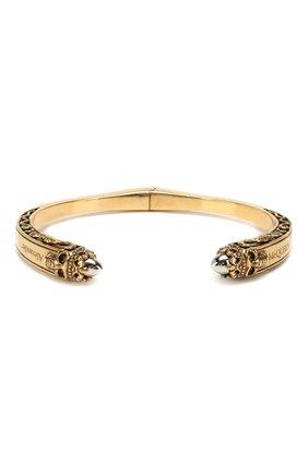 Мужской браслет ALEXANDER MCQUEEN золотого цвета, арт. 579275/J160X | Фото 1