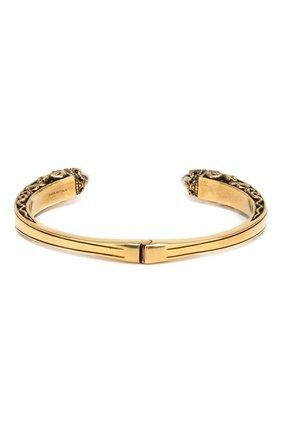 Мужской браслет ALEXANDER MCQUEEN золотого цвета, арт. 579275/J160X | Фото 2