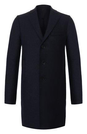 Мужской шерстяное пальто HARRIS WHARF LONDON темно-синего цвета, арт. C9101MLK | Фото 1