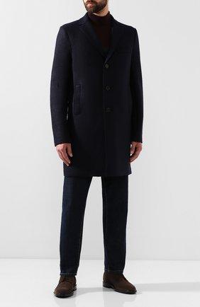 Мужской шерстяное пальто HARRIS WHARF LONDON темно-синего цвета, арт. C9101MLK | Фото 2