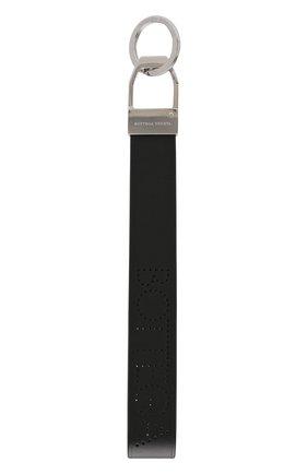 Мужской кожаный брелок BOTTEGA VENETA черного цвета, арт. 578208/VA411 | Фото 1