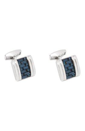 Мужские запонки TATEOSSIAN синего цвета, арт. CL5632 | Фото 1