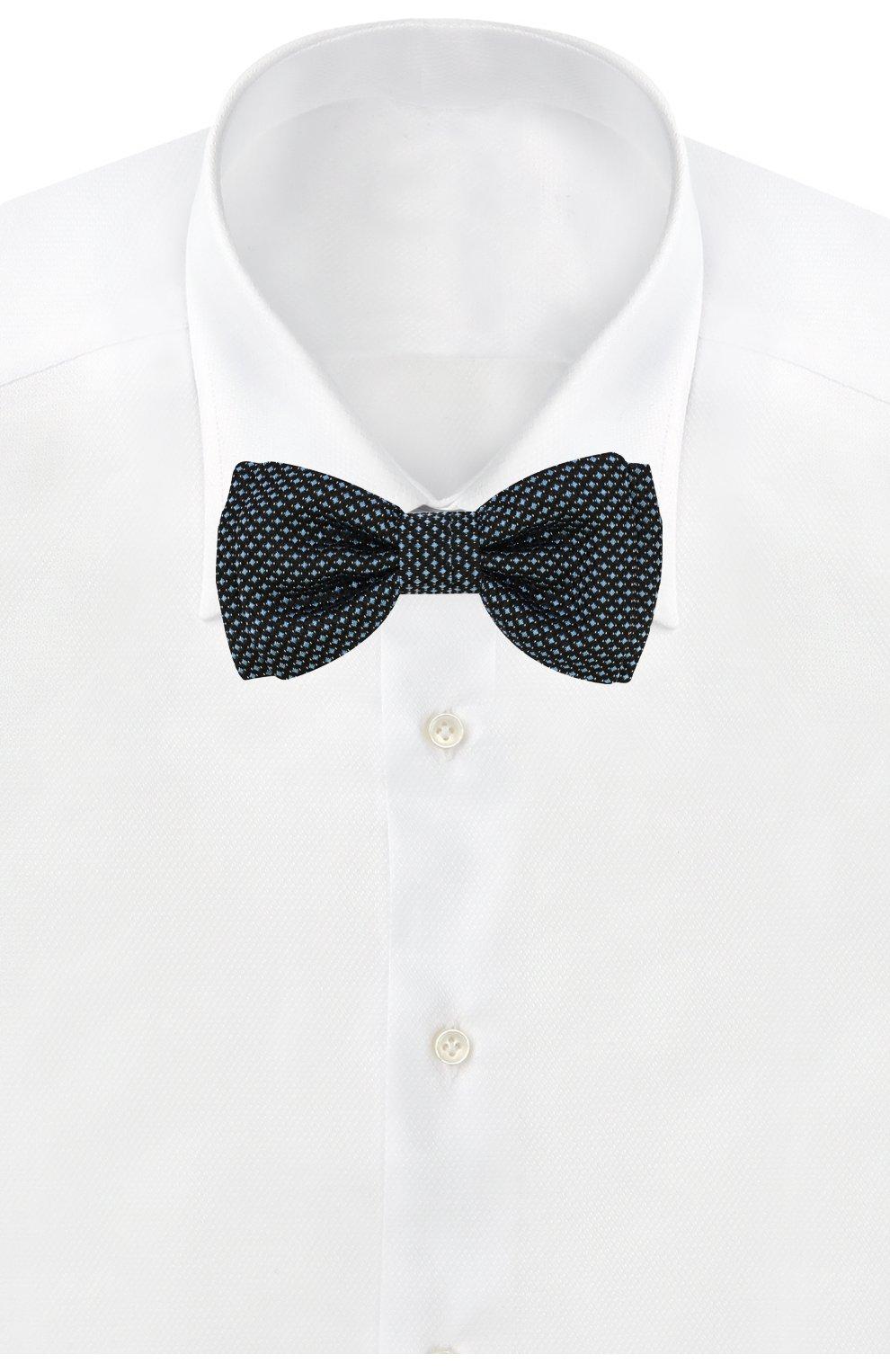 Мужской галстук-бабочка BOSS синего цвета, арт. 50419541   Фото 2