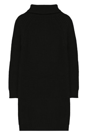 Детское вязаное платье из хлопка KARL LAGERFELD KIDS черного цвета, арт. Z12131 | Фото 2