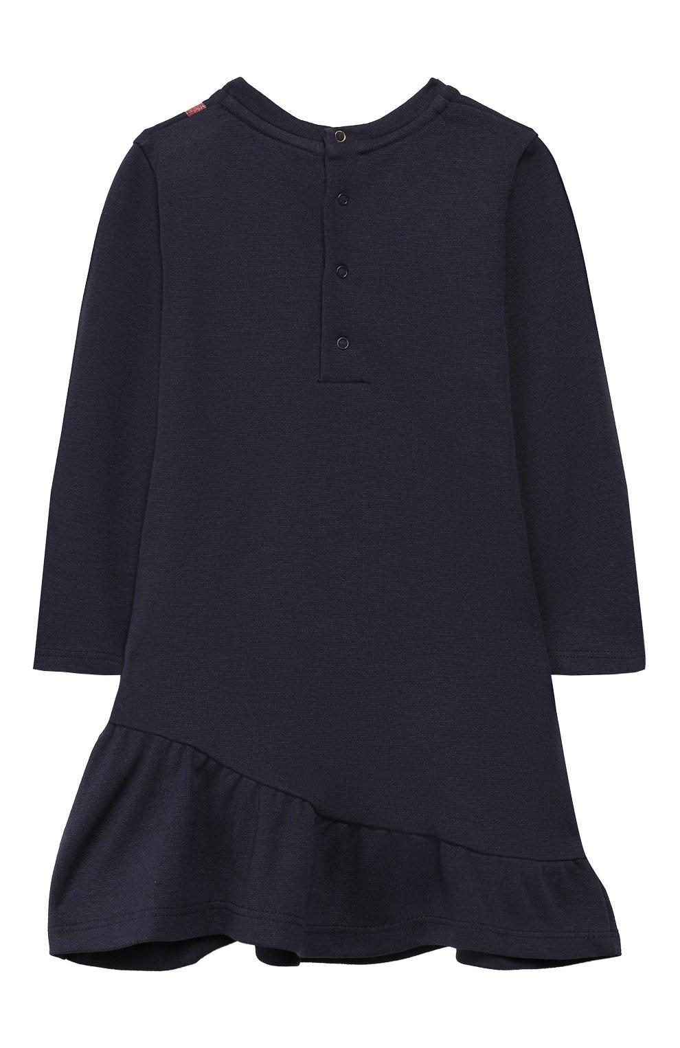 Женская хлопковое платье MARC JACOBS (THE) темно-синего цвета, арт. W02129   Фото 2